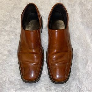 Ecco Mens Slip On brown Dress Shoes Size 46 11.5